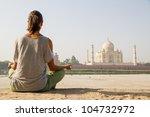 relaxing at taj mahal | Shutterstock . vector #104732972