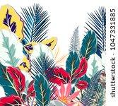 flower tropical vector... | Shutterstock .eps vector #1047331885