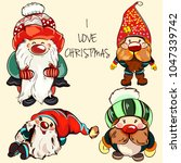 collection of vector gnomes for ... | Shutterstock .eps vector #1047339742