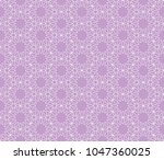 ornamental pink vector pattern  | Shutterstock .eps vector #1047360025