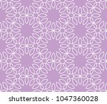 ornamental pink vector pattern  | Shutterstock .eps vector #1047360028