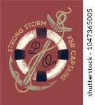 strong storm.nautical logo ... | Shutterstock .eps vector #1047365005