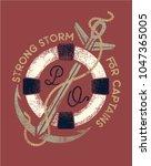strong storm.nautical logo ... | Shutterstock .eps vector #1047365005