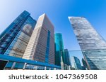 high rise building of shiodome. ... | Shutterstock . vector #1047369508