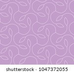 ornamental pink vector pattern | Shutterstock .eps vector #1047372055