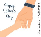 celebrating father's day ... | Shutterstock .eps vector #1047377425