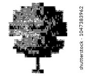 ascii art tree with glitch.... | Shutterstock .eps vector #1047383962