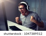 technology  gaming ...   Shutterstock . vector #1047389512