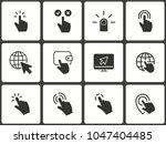 click vector icons set. black...   Shutterstock .eps vector #1047404485