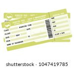 flight tickets. two green... | Shutterstock . vector #1047419785