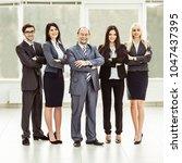 portrait of successful... | Shutterstock . vector #1047437395