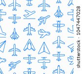 airplane seamless pattern with...   Shutterstock .eps vector #1047447028
