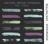 watercolor  ink or paint brush... | Shutterstock .eps vector #1047447556