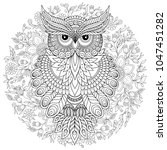 coloring book for adult and... | Shutterstock . vector #1047451282