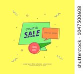 summer sale square banner.... | Shutterstock .eps vector #1047500608