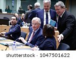 Small photo of EU Commission member in charge of Brexit negotiations with Britain, Michel Barnier attends in European general affairs council on Article 50 in Brussels, Belgium on Jan. 29, 2018.