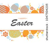 colorful happy easter greeting... | Shutterstock .eps vector #1047504235