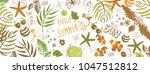 sweet summer doodles full... | Shutterstock .eps vector #1047512812
