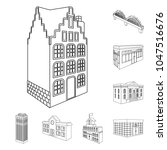 building and architecture... | Shutterstock .eps vector #1047516676