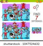 cartoon illustration of finding ... | Shutterstock .eps vector #1047524632