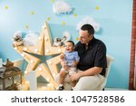 hapiness and beatiful family | Shutterstock . vector #1047528586