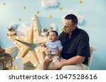 hapiness and beatiful family | Shutterstock . vector #1047528616