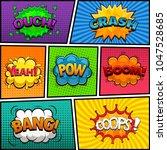comic speech bubbles background ... | Shutterstock .eps vector #1047528685