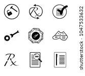 set of 9 simple editable icons... | Shutterstock .eps vector #1047533632