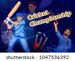 batsman sports player playing... | Shutterstock .eps vector #1047536392