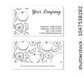 black and white business card... | Shutterstock .eps vector #1047538282