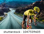 professional road bicycle racer ... | Shutterstock . vector #1047539605