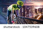 professional road bicycle racer ... | Shutterstock . vector #1047539608