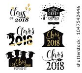 graduation wishes overlays  set.... | Shutterstock .eps vector #1047542446