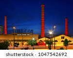 """Small photo of ATHENS, GREECE- June 7, 2009. The old Gaz (gas) factory, nowadays the """"Technopolis"""" (literally """"City of Arts"""") of the city at Gazi neighborhood."""