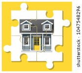 dream house concept with... | Shutterstock .eps vector #1047548296