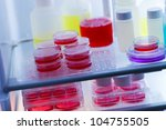 samples with biological agents... | Shutterstock . vector #104755505