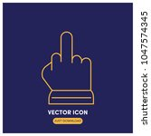 middle finger vector icon...