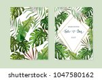floral card set. wedding... | Shutterstock .eps vector #1047580162