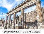 ancient ruins of pompeii  italy | Shutterstock . vector #1047582508