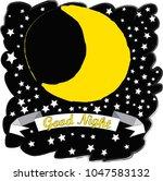 good night.moon and stars...   Shutterstock .eps vector #1047583132