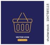 shopping basket vector icon...