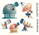 vector cartoon set with... | Shutterstock .eps vector #1047593755