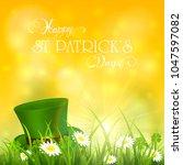 green hat of leprechaun in...   Shutterstock . vector #1047597082