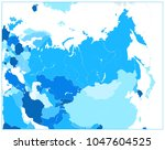 eurasia political map in shades ... | Shutterstock .eps vector #1047604525
