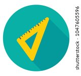 a drafting tool  set square    Shutterstock .eps vector #1047605596
