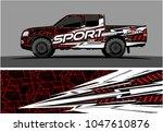 truck graphic vector kit....   Shutterstock .eps vector #1047610876
