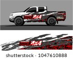 truck graphic vector kit.... | Shutterstock .eps vector #1047610888