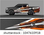 truck graphic vector kit.... | Shutterstock .eps vector #1047610918