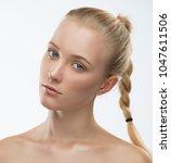 beautiful face woman  has... | Shutterstock . vector #1047611506