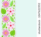 spring flowers border. vector... | Shutterstock .eps vector #1047622552